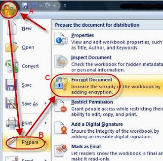 remove encryption excel 2007