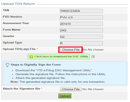 tds return online upload procedure