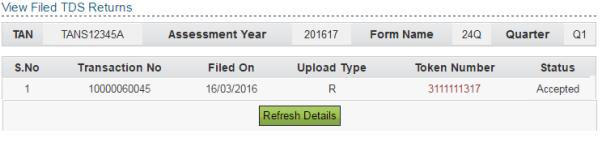 online tds return upload procedure