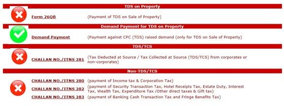 Payment against TDS Defaults