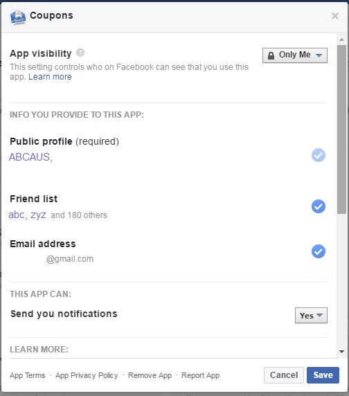Block Facebook Advertisers Apps using data without knowledge