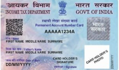 Instructions for filling PAN Card Application Form 49A. Document required as proof of identity, address and date of birth