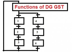 Charter of Functions assigned to DG of GST.