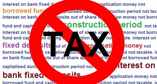 Interest on fixed deposits during construction period held not taxable as FDRs were not made out of borrowed fund