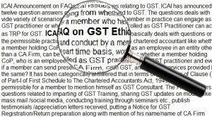 ICAI FAQs-Ethical issues on GST