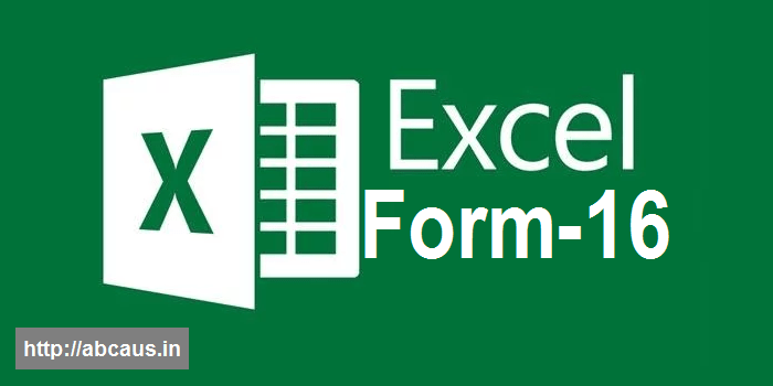Excel Auto Salary TDS Certificate Form 16 for AY 2019-20 Download