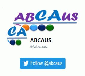 Abcaus twitter handle