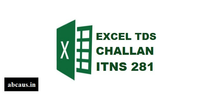 Excel Income tax TDS Challan ITNS-281 with database AY 2020-21